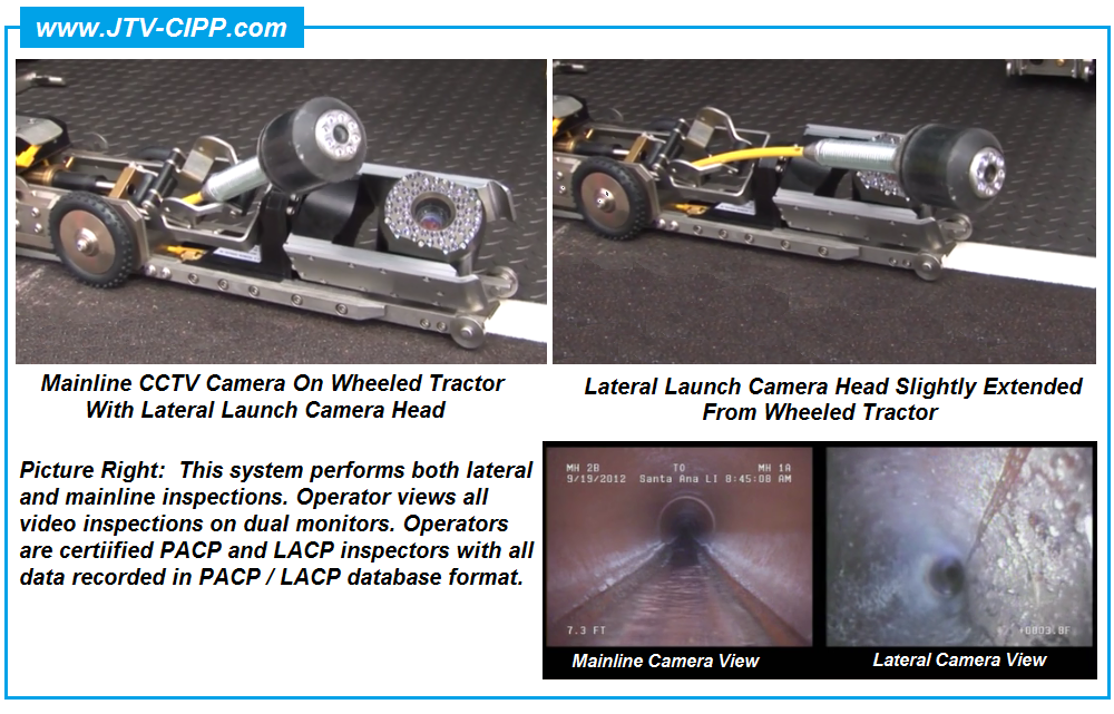 Lateral CCTV Inspection | Mainline CCTV Camera | Lateral Inspection ...